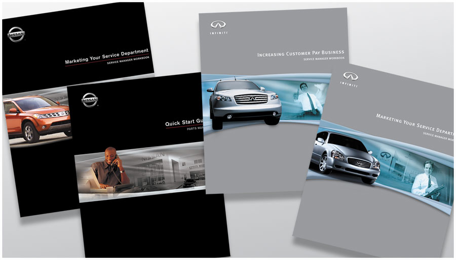 Nissan USA - corporate training manual cover designs - g3